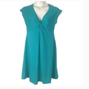 Patagonia Teal Green Twist Center Knit Dress
